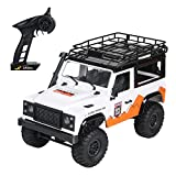 2.4G 1/12 RC Truck 4WD RTR Off Road Car Rock Crawler RC Truck Buggy RC LKW-Scheinwerfer mit Fernbedienung Auto-Spielzeug-Geschenk for Kinder (Color : White, Size : 1:12)