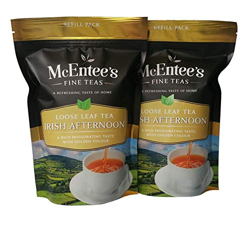 McEntee's Irish Afternoon Tea (Pack of 2) - 250g Refill Bags - Expertly Blended in Ireland to give That Perfect Cup of Tea. A Traditional Blend of Ceylon, Assam and Kenyan Tea.