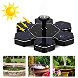 Orlegol Solar Springbrunnen, Outdoor Solar Teichpumpe mit 1.5W Solar Panel Solarpumpe Wasserpumpe Fontäne Schwimmender Brunnen für Gartenteich Springbrunnen Fisch Behälter Kleiner Teich