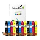 ECS Inks - 3 sets de 4 cartuchos de tinta compatibles con Epson Stylus Office BX305F, BX305FW, S22, SX125, SX130, SX230, SX420, SX235W, SX420W, SX425W, SX425, SX445