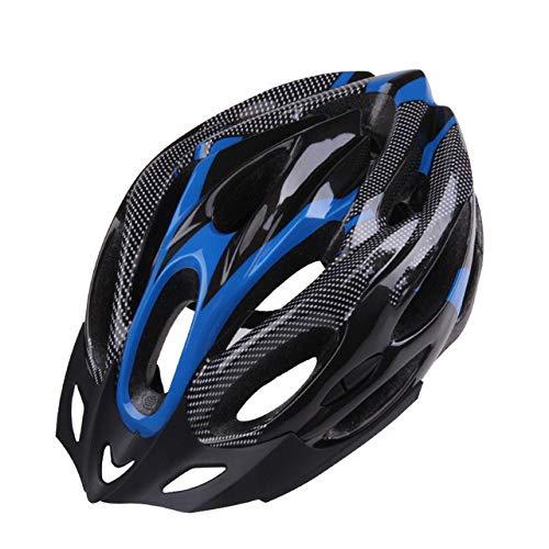 YWZQ Meteor Fahrradhelm, Gemütlich Leichte atmungsaktive Schutzhelm, Sicherheits-Schutz Unisex Fahrrad Hoverboard Inline Skate Scooter Helm Adjustable,Blau