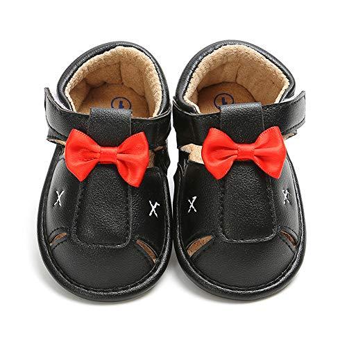 Sabe Baby Boys T-Tied Casual Sandalias de suela suave antideslizante Vestir Pram Zapatos, color Beige, talla 0-6 meses