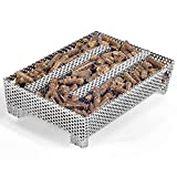 Buzzlett 12 Hours Pellet Maze Smoker Tray, Perfect for Hot or Cold Meat, Cheese, Fish and Pork Smoking, 5' x 8'
