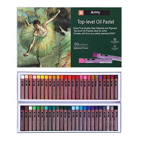 Juego de 12/36/50 tizas pastel al óleo, redondas, suaves, acuarelas, no tóxicas, lápices de colores pastel, lápices de colores para niños, lápices de colores profesionales para la escuela