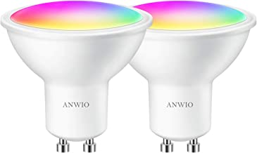 Smart WLAN LED-lamp GU10 Wifi gloeilamp RGB 5W vervangt 32W reflector gloeilamp meerkleurige GU10 dimbare intelligente thu...