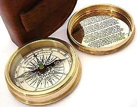BOX in LEGNO E VETRO IDEA REGALO VINTAGE COLLECTION BUSSOLA in OTTONE ANTICATO