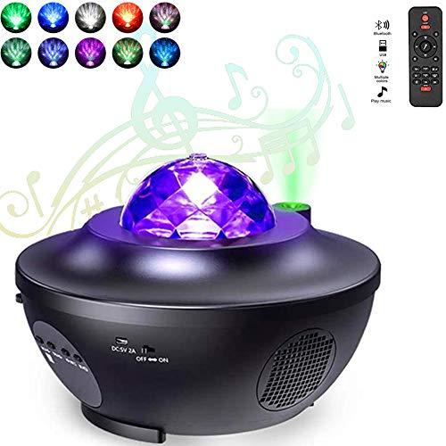 Ancocs LED Nachtlicht Sternenhimmel für Babys und Kinder mit Musik Rotierend Planetarium-Projektor Galaxy Bliss mit 10 Licht-Modi Bluetooth Sound Timer & Fernbedienung Skylite Wave Projektor-Lampe