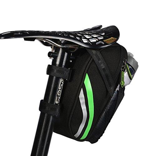 ROCKBROS Satteltasche Sitztasche Fahrradtasche Sattelstangentasche schwarz Stoff