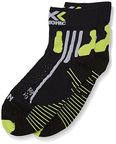 X-SOCKS Effektor Chaussettes fonctionnelles pour Homme Courtes Course à Pied Multicolore Black/Acid Green 35/38