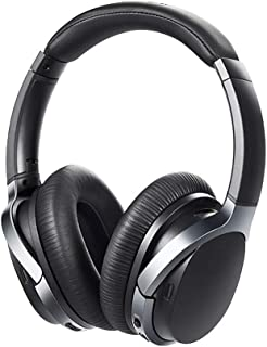 Active Noise Cancelling Headphones, Bluetooth Headphones, with Mic, Heavy Bass Sound, Adjustable Headband Gaming Headset, for Travel Office TV Mobile Phone PC Hi-Fi Stereo Bluetooth Headphones