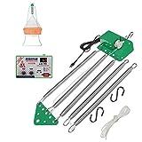 Columpio eléctrico para colgar, con controlador de balancín, muelle automático para cuna y hamaca para bebé, con temporizador ajustable, libera tus manos, hasta 18 kg (W)
