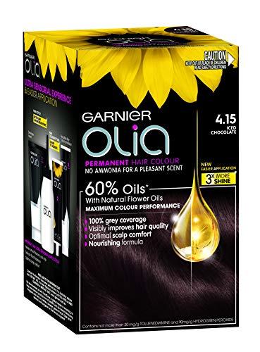 Garnier Olia Permanent Hair Colour 4.15 Iced Chocolate (Ammonia Free, Oil Based)