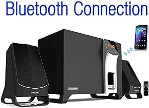 Boytone BT-3107F, Wireless Bluetooth 2.1 Multimedia Powerful Bass System with FM Radio, Remote Control Aux Port, USB/SD/MMC Audio for Phones , Tablets , Desktop Computers , Laptops