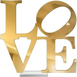 4ArtWorks - 3D Love Word Tabletop Art Décor (Gold Mirror Finish) for Dorm Rooms, Living Spaces, Bedrooms, Modern Offices &...