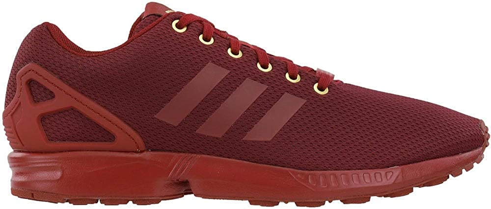 adidas Mens Zx Flux Lace Up Sneakers Shoes Casual - Red
