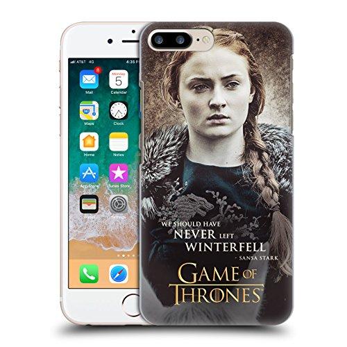 Head Case Designs Oficial HBO Game of Thrones Sansa Stark Comillas de Caracteres Carcasa rígida Compatible con Apple iPhone 7 Plus/iPhone 8 Plus