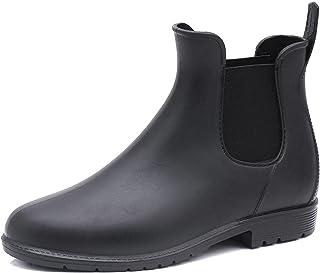 أزياء تشيلسي قصيرة أنبوب المطر أحذية نسائية مرنة أحذية المطر مارتن 42 黑色