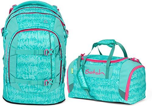 Satch Pack Aloha Mint 2er Set Schulrucksack & Sporttasche