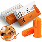 Finger Toothbrush for Dogs | Remove Tartar & Stop Bad Breath | 5 Pack For Easy Dog Teeth Cleaning | Silicone Dog Toothbrush for Total Dental Care