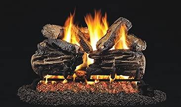 Real Fyre 24-inch Charred Split Oak Vented Gas Logs Bundled with G45 Burner Kit (Natural Gas)