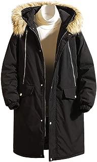 Automne et Hiver Coupe Slim Chaud Cardigan Long Manches Couleur Unie Blousons Ourlet Irr/égulier Casual /à Capuche Longue Section Coupe-Vent Manteau S-2XL Yumso Hommes Manteau