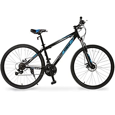 ORKAN 27.5  Men's Mountain Bike 21 Speed Bicycle Shimano Hybrid Black & Blue