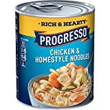 Progresso Rich & Hearty, Chicken and Homestyle Noodles Soup, 19 oz (Pack of 12)