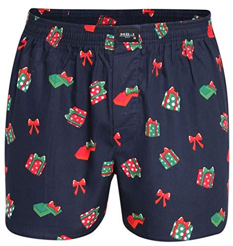 MG-1 Webboxer Herren Boxer Boxershorts Weihnachten X-Mas Geschenke, Grösse:XXL - 8-56, Präzise Farbe:Weihnachtsgeschenke/Christmas Gifts & Christmas Balls