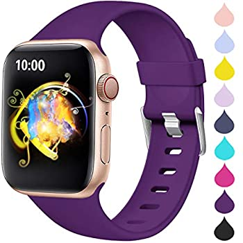 Haveda Compatible for Apple Watch SE Series 6 40mm Band iWatch 38mm Bands Womens for Apple Watch iwatch Series 5 4 3 2 1 Men Durable Sweat Waterproof Band for Apple 6 Watch Purple 38mm/40mm S/M
