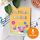 Birthday Wishes Greeting Card With Music | Custom Birthday Card, Personalized Birthday Card, Singing Greeting Card 00015 (10sec Recordable)