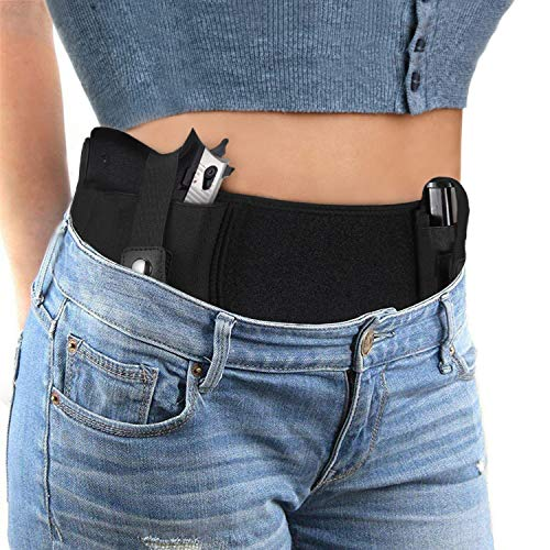 Vemingo Upgraded Conceal Carry Holster Breathable Neoprene Belly Band Holster for Concealed Carry, Glock 19, 17, 42, 43, P238, Ruger LCP, Pistols...
