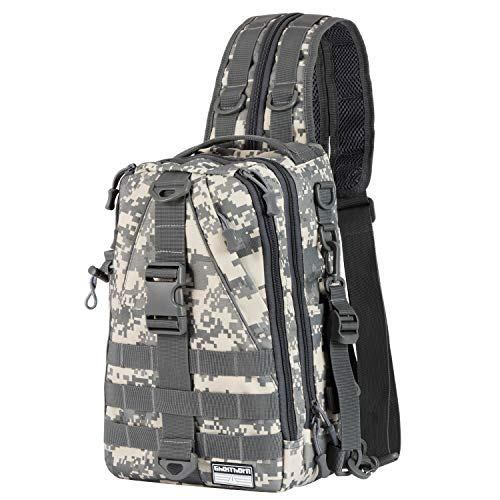 Ghosthorn Fishing Tackle Backpack Storage Bag - Outdoor Shoulder Backpack - Fishing Gear Bag Large Jungle Camouflage