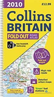 2010 Collins Fold Out Road Atlas Britain