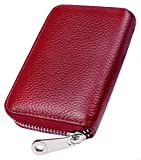 RFID Blocking Leather Wallet for Women,Excellent Women's Genuine Leather Credit Card Holder Ladies