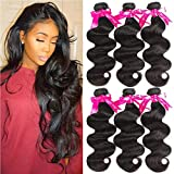 Beauty Princess Body Wave Human Hair 3 Bundles Double Weft 8A Brazilian Hair Bundles (24 26 28Inch)