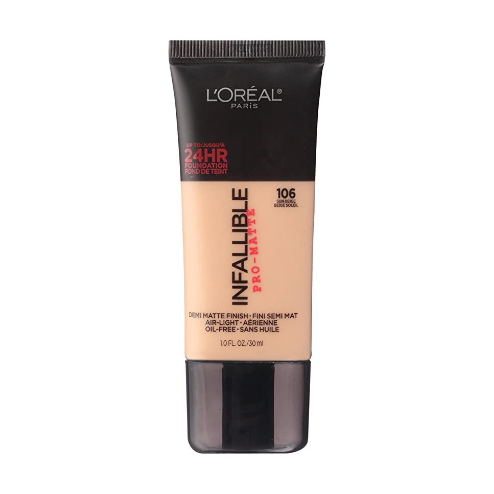 作成する谷カード(6 Pack) L'OREAL Infallible Pro-Matte Foundation - Sun Beige (並行輸入品)