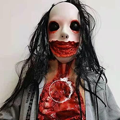 BDTOT Máscara de Halloween espantosa, Fiesta de Disfraces de Máscara para la Cabeza de Látex Bebé Llorón Máscara de Humana Reales Personas para Carnaval