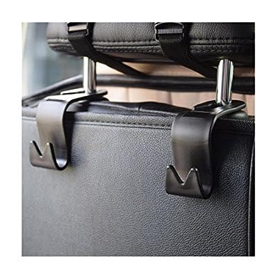Iuhan® Fashion 4Pcs Car Seat Back Headrest Holder Hook for Bag Coat Organizer Holder Universal