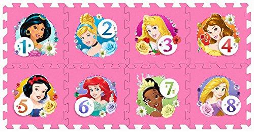 Stamp - Tp880001 - Stamp - Puzzle de Sol - TAPIS MOUSSE - Marelle - Princess - 8 Pièces