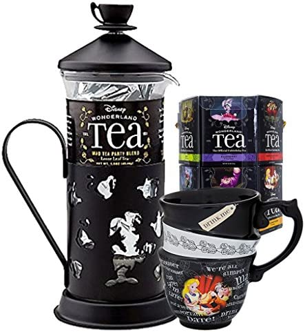 Disney Parks Exclusive Alice in Wonderland Tea Variety with Tea Press and Triple Stack Cup Set product image