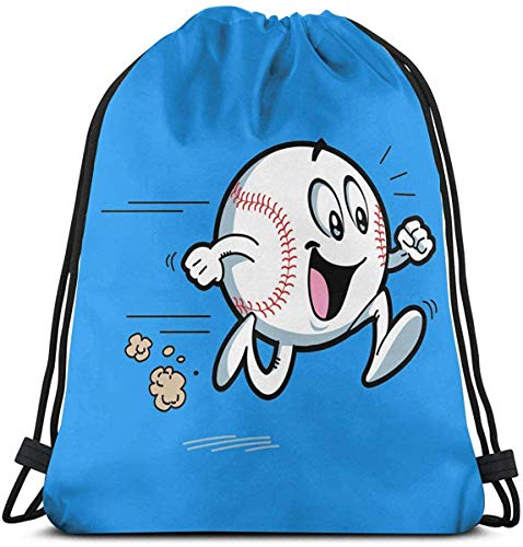 Shui Baseball Running Drawstring Rucksack Rucksack Umhängetaschen Sporttasche