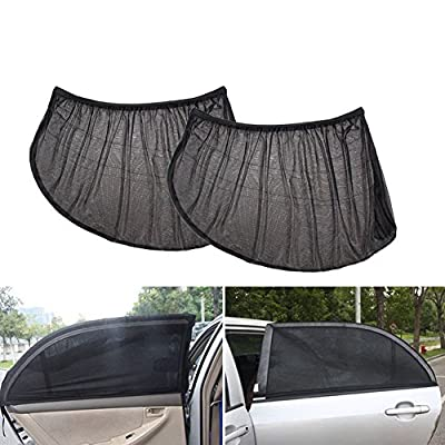 everd1487HH 2Pcs Car Rear Side Window Sun Visor Shade Cover Shield Sunshade UV Protector,Home Desktop Decoration Life Gadget- Black M by everd1487HH