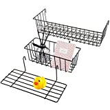 Hanging Basket – Entryway Organizer – Pack of 2 Wire Basket & 1 Shelf for Storage – ...