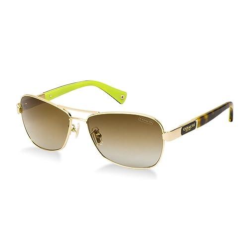 51515c67fa Coach Sunglasses - Caroline Frame  Gold Lens  Brown Gradient