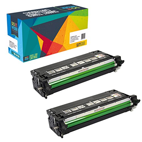 Do it Wiser Compatible High Yield Toner for Dell 3110 3110cn 3115 3115cn - 8,000 Pages - 2 Pack Black