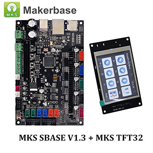 Makerbase 3D Printer Parts Controller Board MKS SBASE V1.3 with MKS TFT32 V4.0 32-bit Smoothieboard Open Source Compatible Smoothieware (MKS SBASE + TFT32)