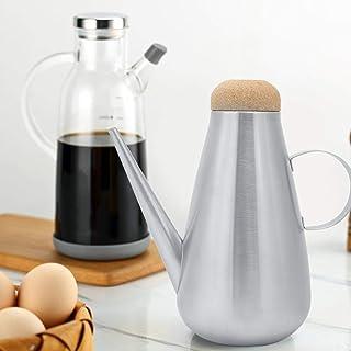 Olla de aceite con tapa de botella de aceite, aceitera de aceite de oliva, cocina de barbacoa para exteriores para el hogar