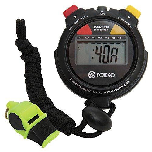Kwik Goal FOX40Fischietto e cronometro Confezione, Nero