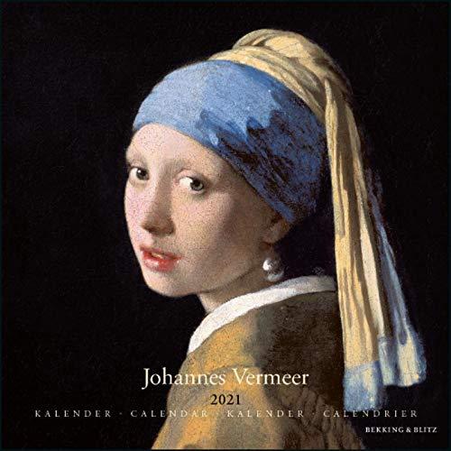 2021年 ラージカレンダー「VERMEER/フェルメール」 壁掛け 画家 風景 アート スケジュール 英語 オランダ語 輸入雑貨(KA21125)