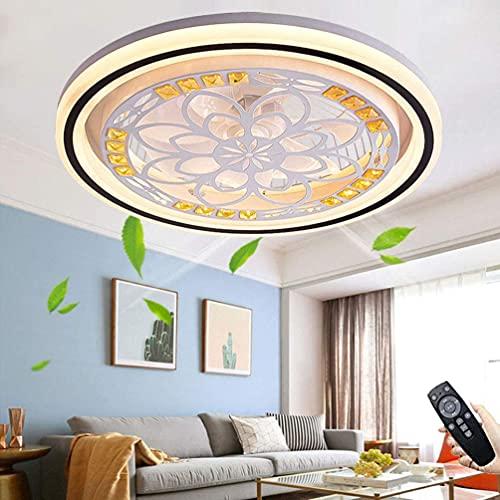 OPW Ventilador Luz De Techo Techo Moderno Ventilador Silencioso con Iluminación Control Remoto Multifunción 3 Velocidades De Viento Ventilador LED Regulable Luz Colgante para Dormitorio Sala De Estar